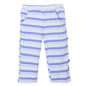 Print Girl Basic Pant with Pocket Tropical Stripe