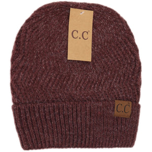 Chevron Knit Cuff C.C Beanie Adult