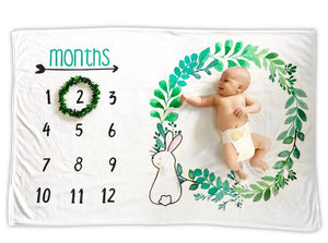 Bunny Baby Monthly Milestone Photo Blanket