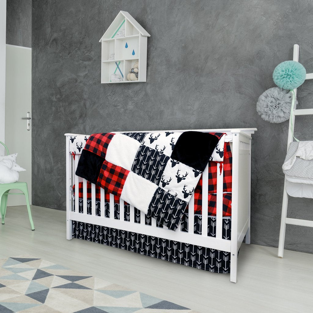 4 Piece Crib Bedding Woodland Collection