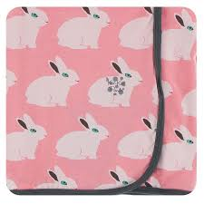 Swaddling Blanket Strawberry Forest Rabbit