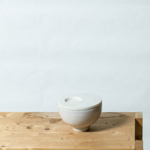 bowl S with marble & plate