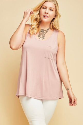 Plus Sleeveless Scoop Top