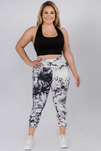 Plus Size Marble Leggings