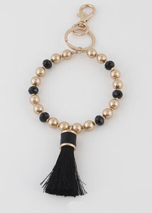 Beaded Bracelet Key Ring