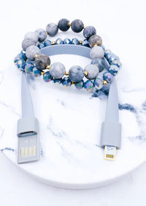 iPhone USB Data Cord Bracelet Set