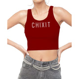 Chixit Crop Top with Classic Logo