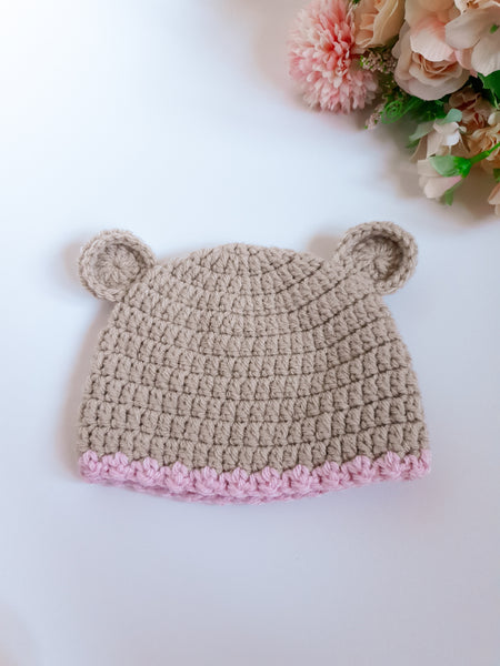 Beige Baby Bear Hat