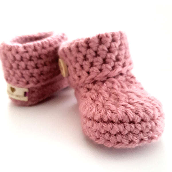 Pink Classic Baby Booties