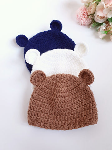 Ready To Ship - Newborn Size Baby Bear Hat