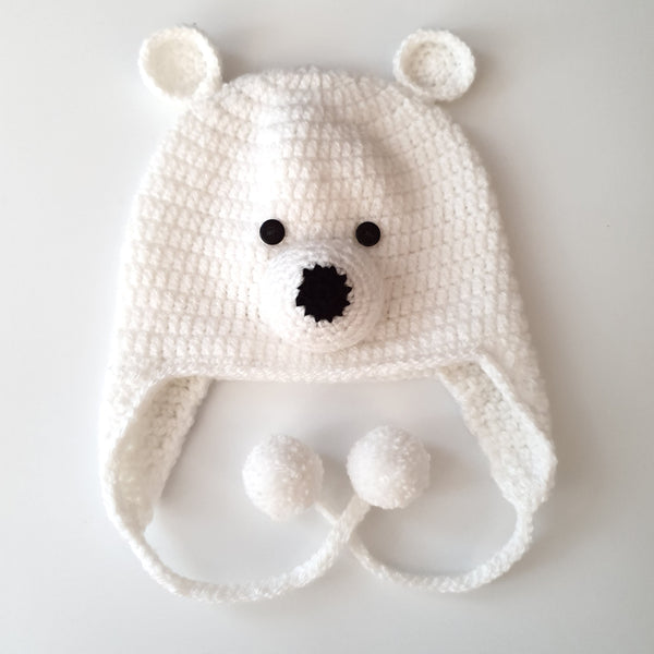 White Polar Bear Hat