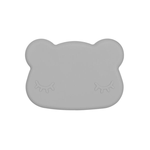 We Might Be Tiny Cutie de pranz din silicon Bear - Dark Grey