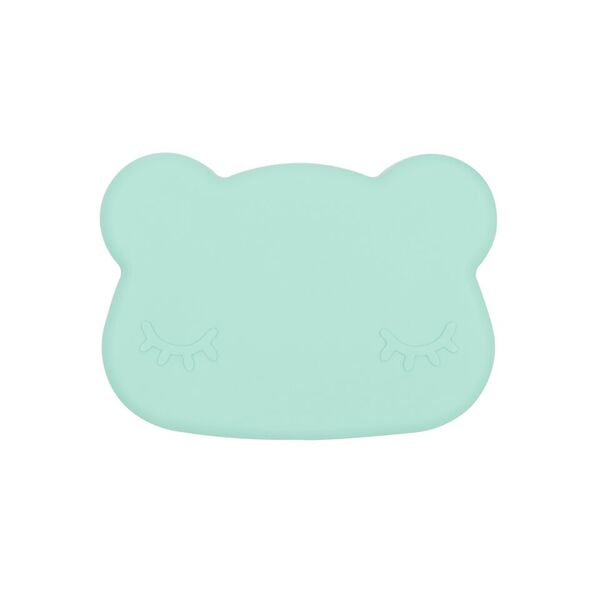 Cutie de pranz din silicon, pentru copii, We Might Be Tiny, baieti, Bear Minty Green - Adinish.com