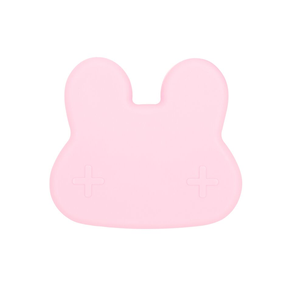 Cutie de pranz din silicon, pentru copii, We Might Be Tiny, fete, Bunny Powder Pink - Adinish.com