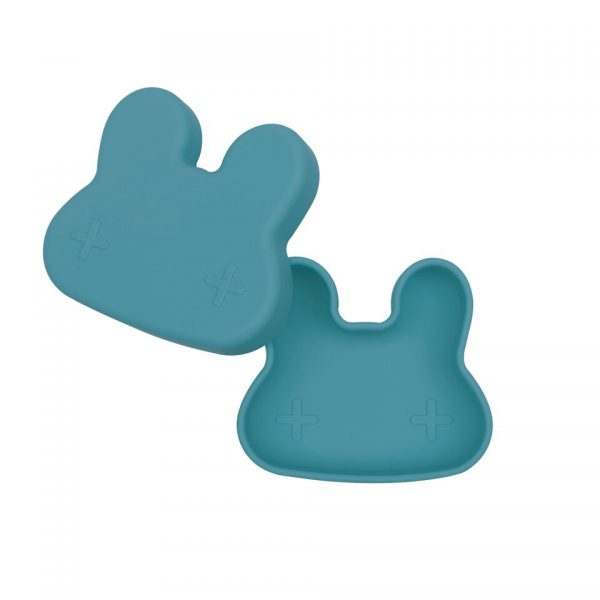 We Might Be Tiny Cutie de pranz din silicon Bunny - Blue Dusk