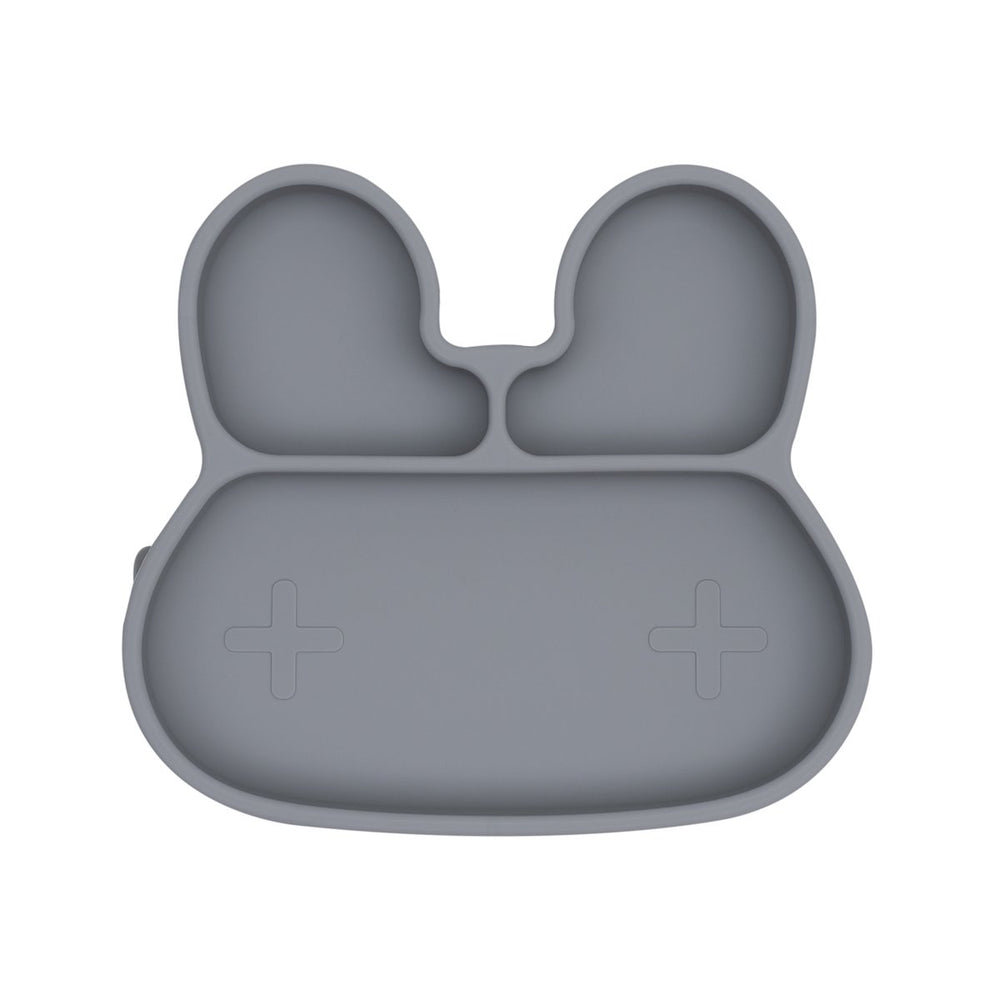 We Might Be Tiny Farfurie cu ventuza din silicon Bunny - Grey