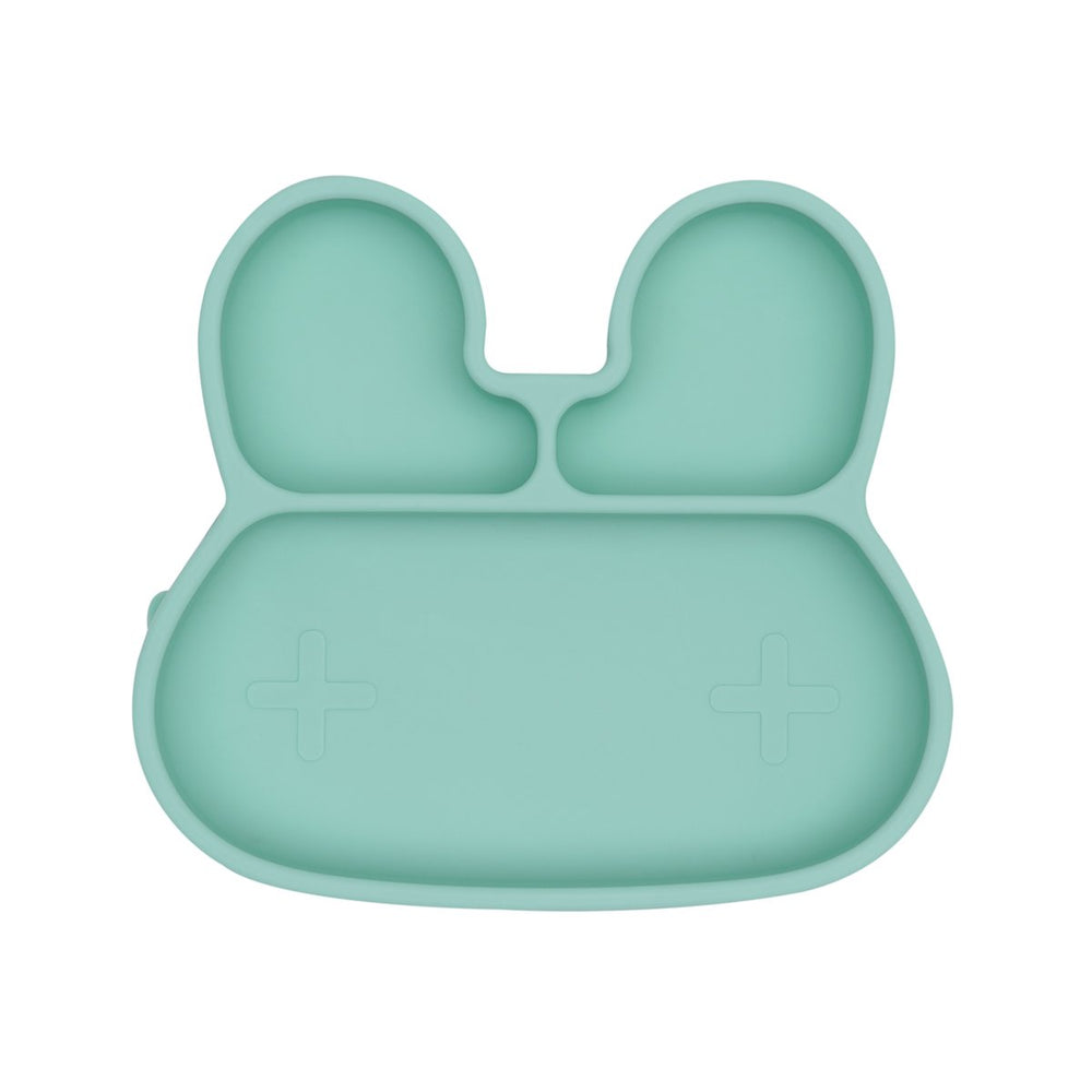 We Might Be Tiny Farfurie cu ventuza din silicon Bunny - Minty Green