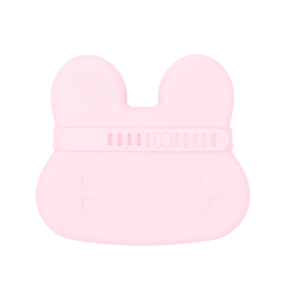 We Might Be Tiny Cutie de pranz din silicon Bunny - Powder Pink - Adinish.com