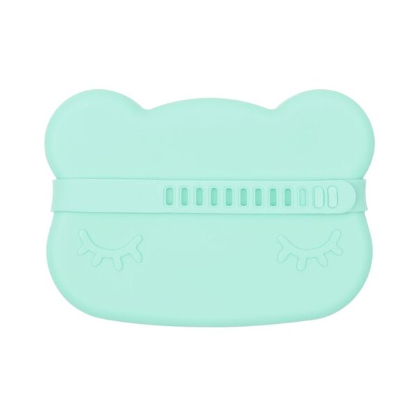 We Might Be Tiny Cutie de pranz din silicon Bear - Minty Green - Adinish.com