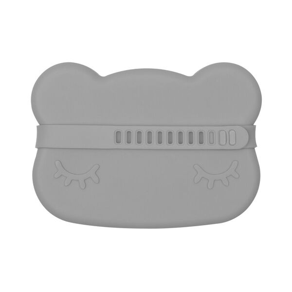 We Might Be Tiny Cutie de pranz din silicon Bear - Dark Grey - Adinish.com