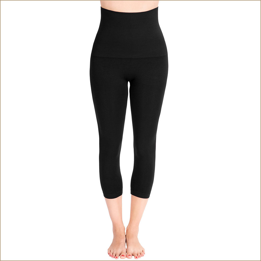 Colanti cu 3 zone de compresie Mother Tucker® Capri Leggings Belly Bandit® - Adinish.com