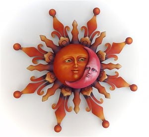 Airbrushed Sun face LG 22""