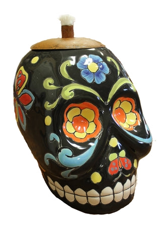 Day of the dead skull torch