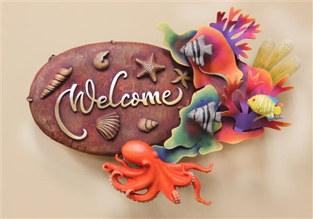 Airbrushed Welcome plaque 12