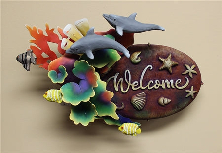 Airbrushed Welcome plaque 13