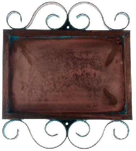 Horizontal Copper Frame for 2 Numbers