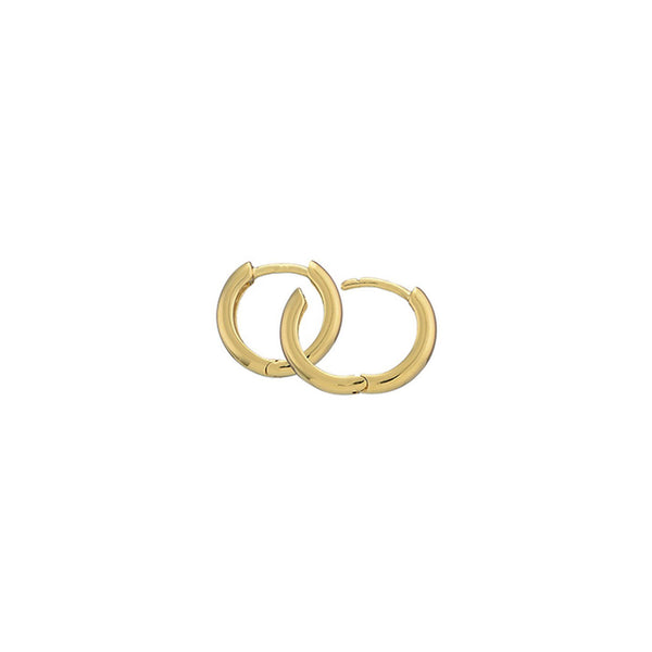 Gold Plated Silver Hoops - 12.5mm