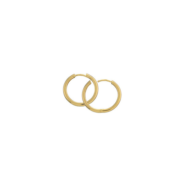 Gold Plated Silver Hoops - 15mm