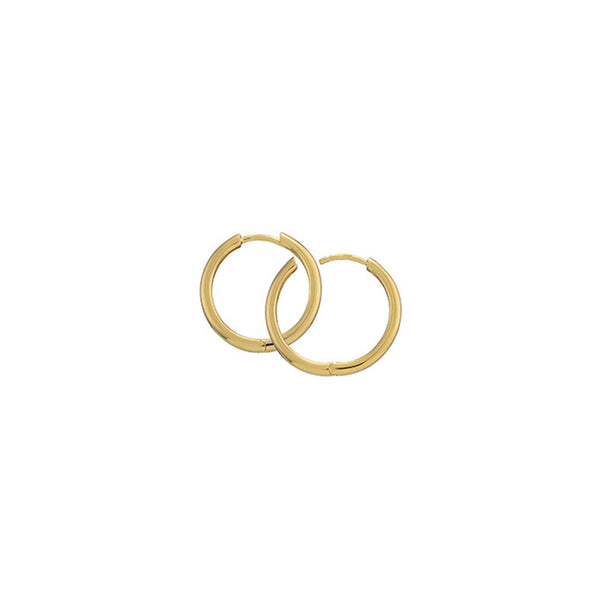 Gold Plated Silver Hoops - 20mm