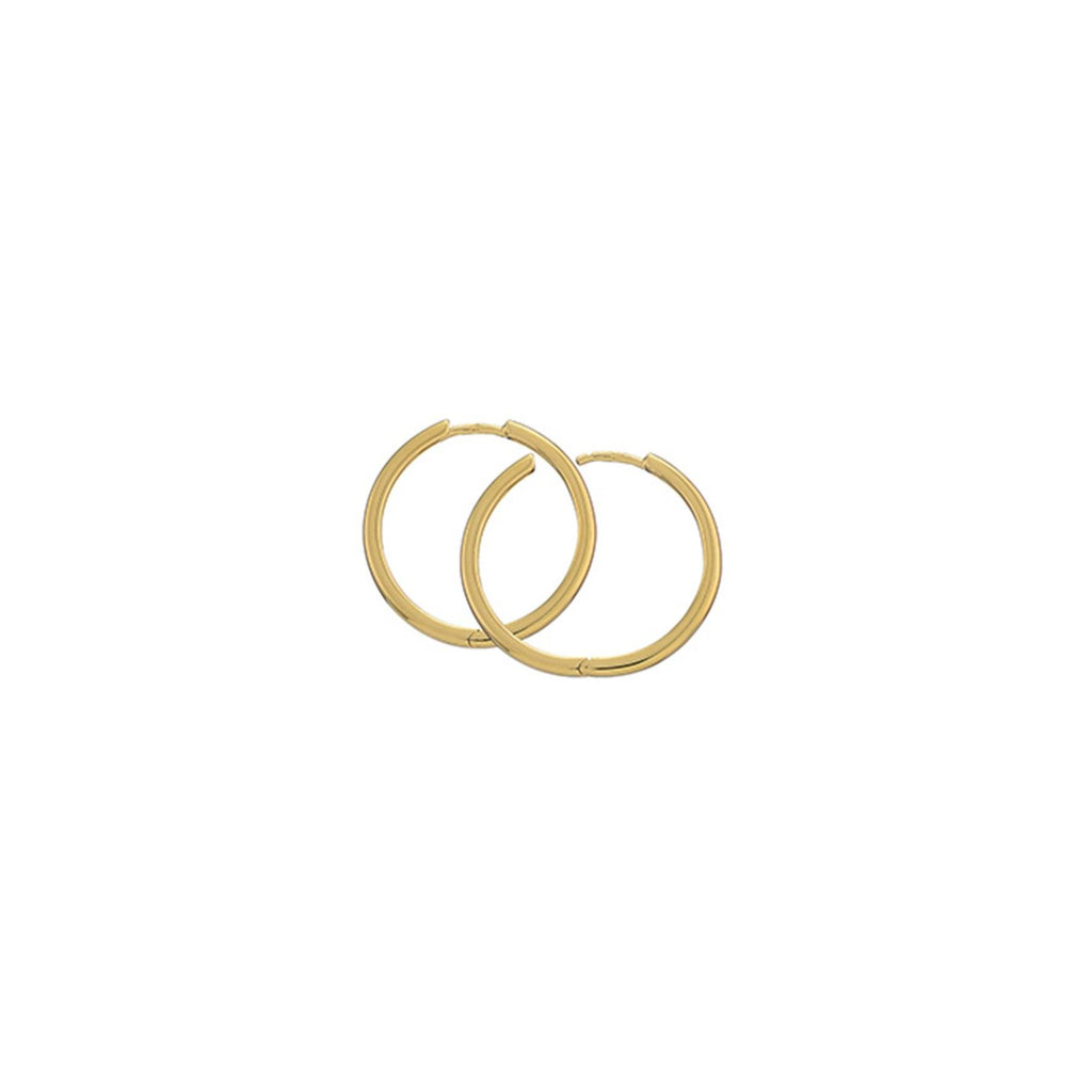 Gold Plated Silver Hoops - 25mm