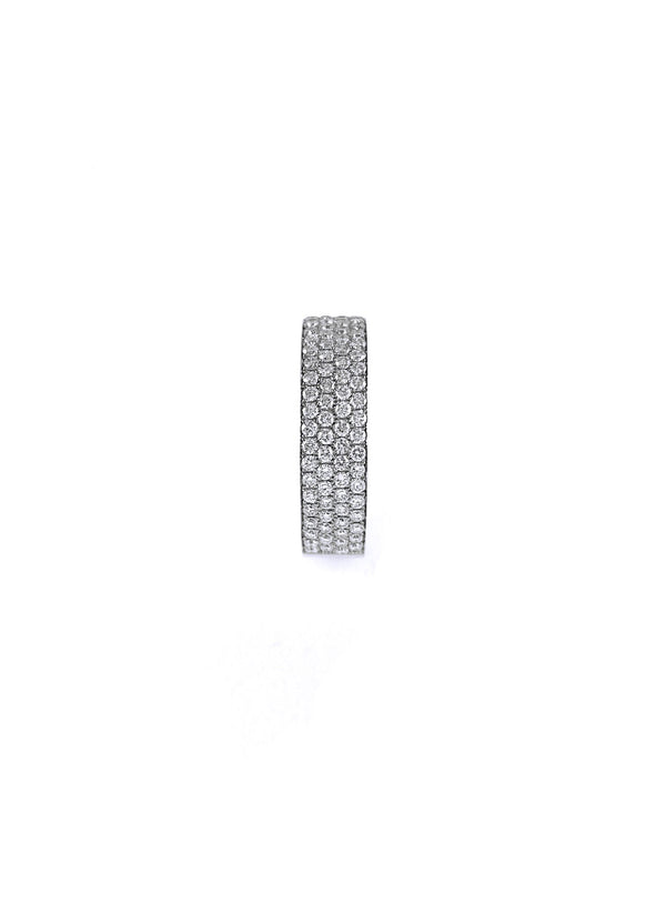 1ct (tw) 14k - 585 // Four Row Micro Pave Half Eternity Band