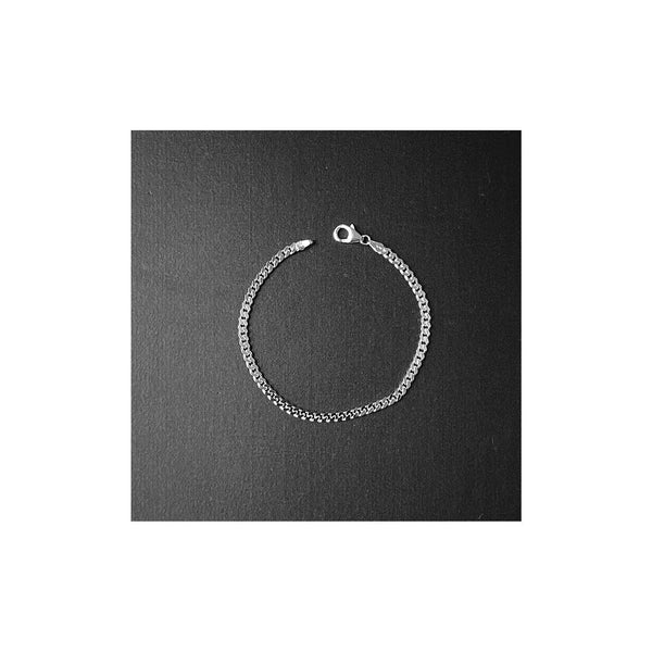 3.8mm Sterling Silver Cuban Bracelet