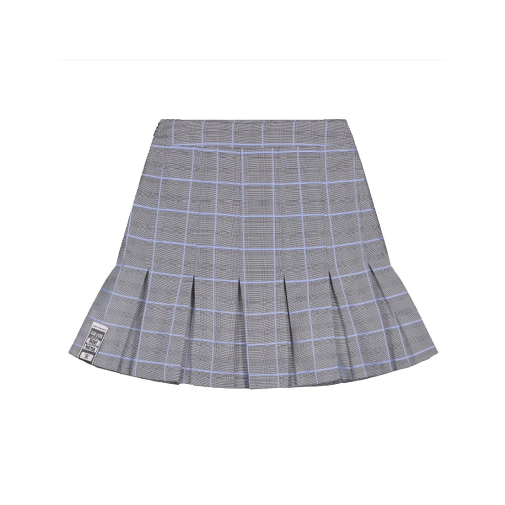 Grey Blue Check Kenee Skirt