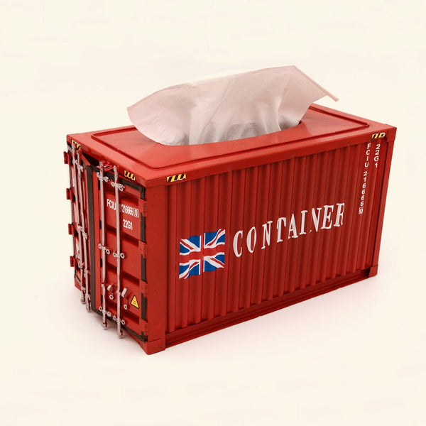 Container shape iron tissue box