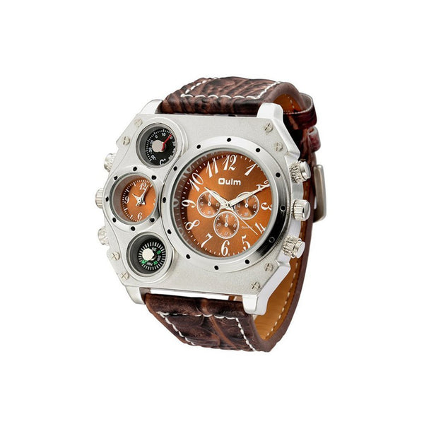 Multiple Time Zone Display Mens Watch