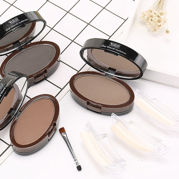 Lazy double-layer seal eyebrow powder