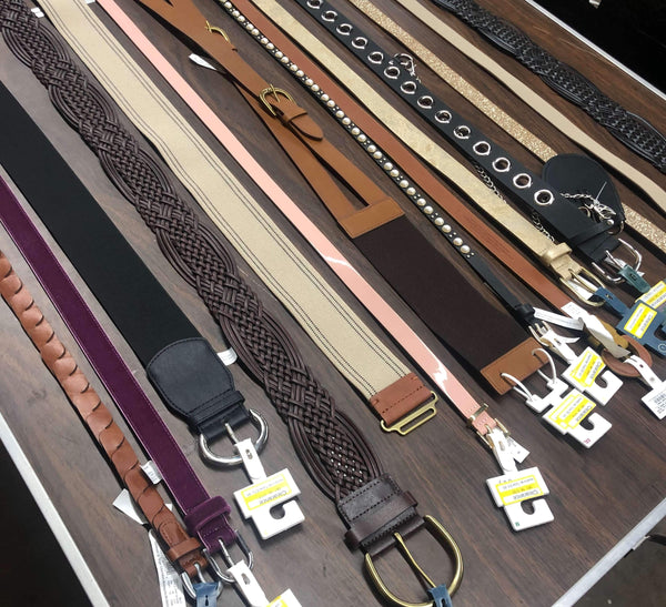Belt liquidations from major department store