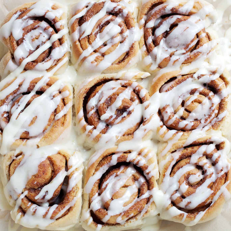 Regular cinnamon rolls for The Breakfast Club in Tallahassee, FL.