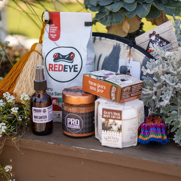 Ultimate care basket from RedEye Coffee in Tallahassee, FL.