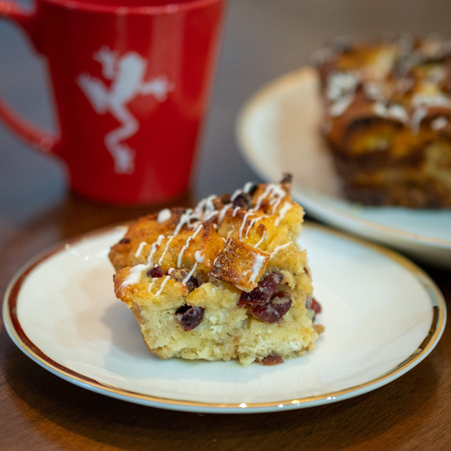 The Breakfast Club: White Chocolate Cranberry Bread Pudding