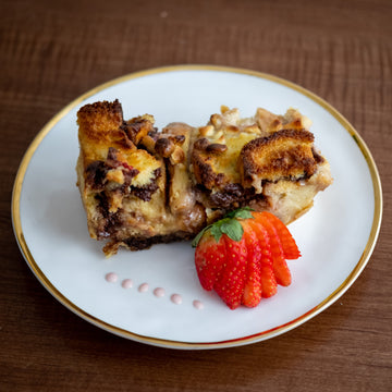 Strawberry Nutella bread pudding from RedEye Coffee. in Tallahassee, FL