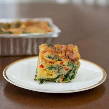 Veggie Frittata by Street Chefs in partnership with RedEye Coffee in Tallahassee, FL.