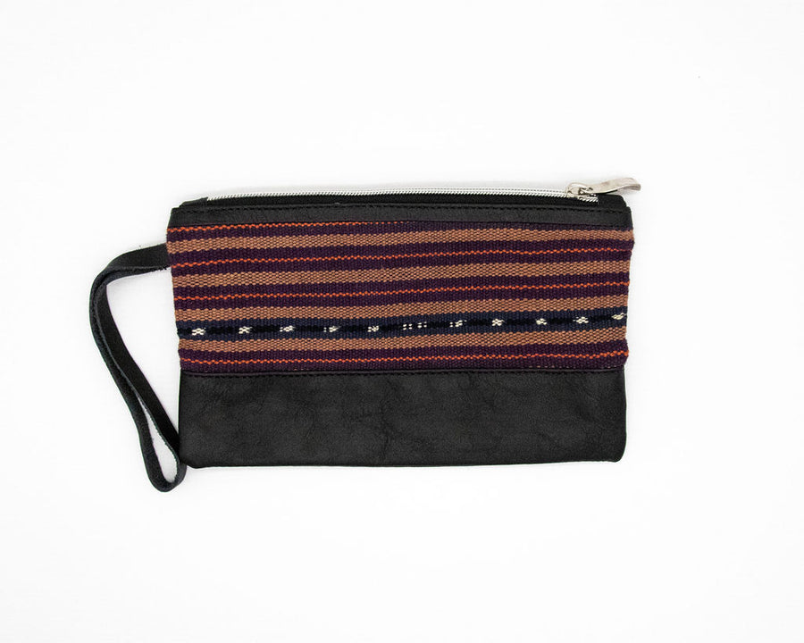 Woven: Organic Leather Clutch