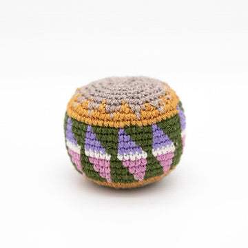 One of a kind hand woven hacky sack from Woven Futures in Tallahassee, FL.
