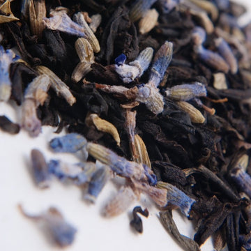 Traditional Organic Earl Grey tea infused with organic lavender and jasmine from TeBella tea company sold in Tallahassee, FL.