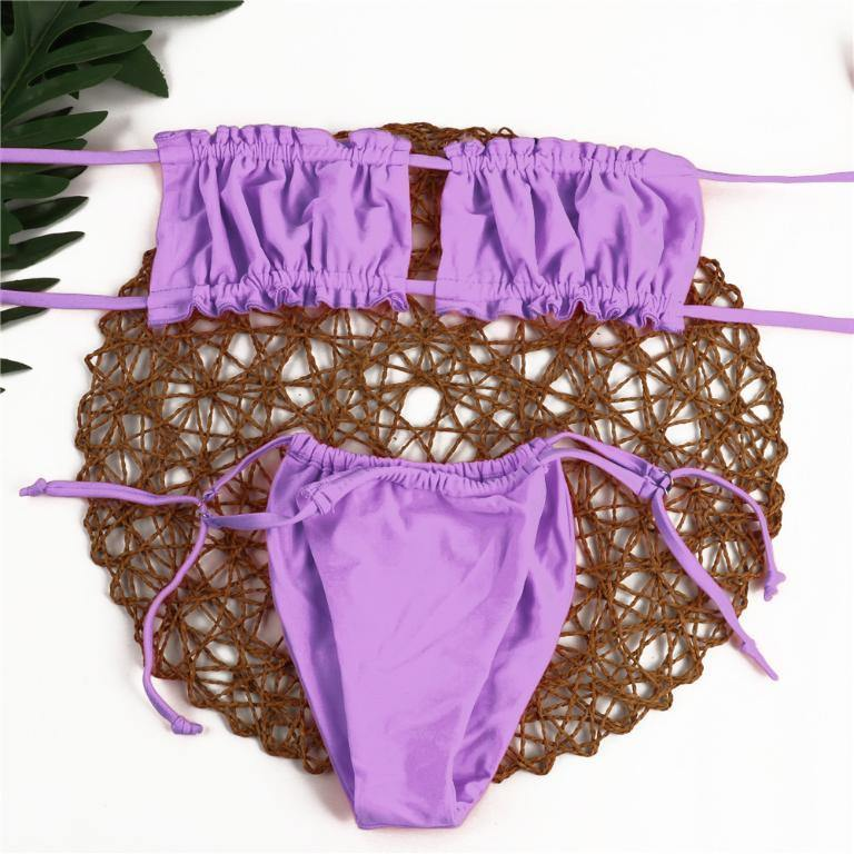 String Brazilian High Cut Bikini Set Afterpay - BargainTown